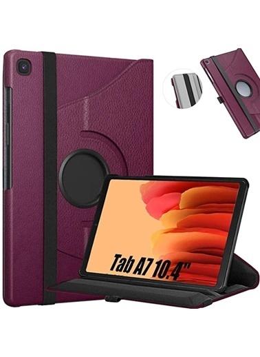 Techmaster Samsung Galaxy Tab A7 10.4 Sm-T500 360 Ayarlanabilir Kılıf Mor